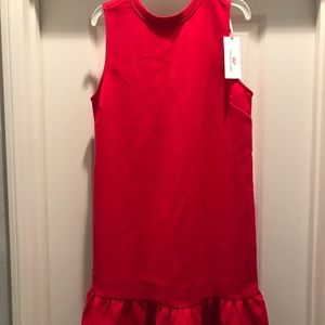 NWT❤️vineyard vines girls red ruffle holiday dress
